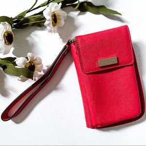 Kate Spade ♠️ Wallet and phone case, red